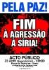 Acto Público no Porto Pela Paz! Fim à agressão à Síria!_1